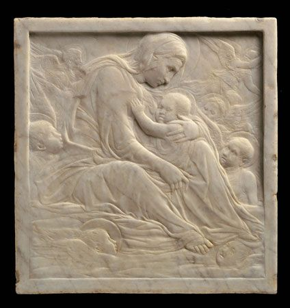 Donatello (Italian, 1386-1466), Madonna of the Clouds, Italian (Florence), Renaissance, about 1425-35, marble, Museum of Fine Arts, Boston