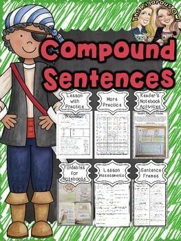 Looking for resources to help your students MASTER Conjunctions and Compound Sentences INCLUDING ASSESSMENT? Look no further! Heres whats included: Lesson Notes- introducing the standard Practice More Practice- Fun Activity Page Foldables for Readers Notebooks Readers Notebook Activities Sentence Frames- for daily practice Assessment Answer Keys Suggested Lesson Plans for Mastering Conjunctions and Compound Sentences in one week: Day 1: Lesson Notes and Practice/ Pair Share Sentence Frames…