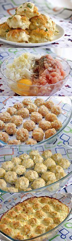 Как приготовить нежные куриные шарики в сырно-сливочном соусе. - рецепт, ингридиенты и фотографии
