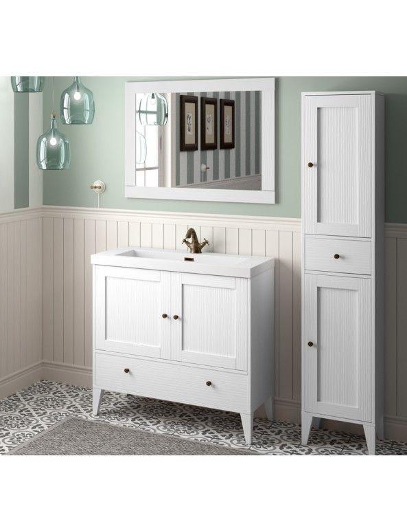 BOHEME 90CM VINTAGE WHITE VANITY - SET - Vanities - Bathroom Supplies - Our Products