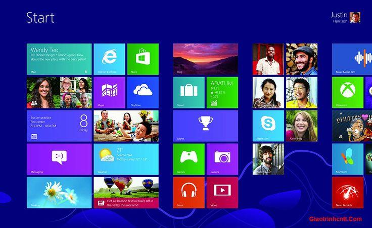 Tài Liệu Hướng Dẫn Sử Dụng Windows 8 - Giáo Trình CNTT