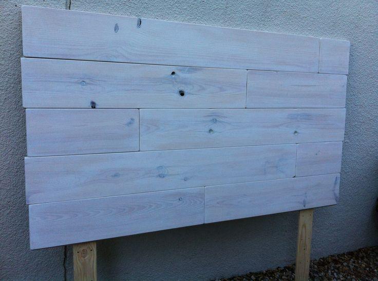 Cabecero de tablones de madera for the home pinterest - Hacer cabecero de madera ...