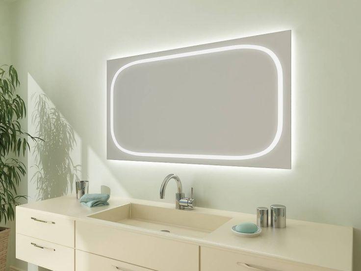 Spectacular Einzigartiger Badspiegel mit LED Licht Dieser tolle Badezimmer Spiegel mit Beleuchtung rundherum der individuell f r Sie hergestellt wird wird