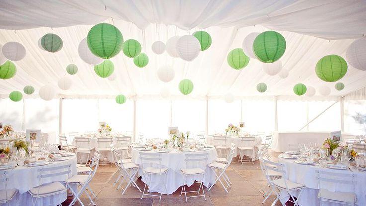 17 best images about groen witte lampionnen aankleding voor voor je huwelijk decoratie - Outdoor decoratie ideeen ...