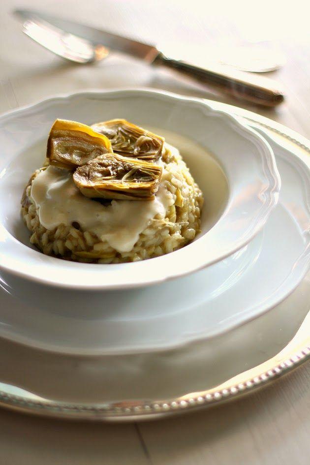 Risotto ai carciofi con crema al parmigiano reggiano   Chiarapassion