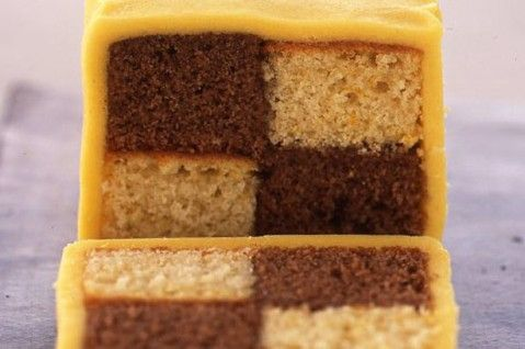 Chocolate orange battenburg cake recipe - goodtoknow