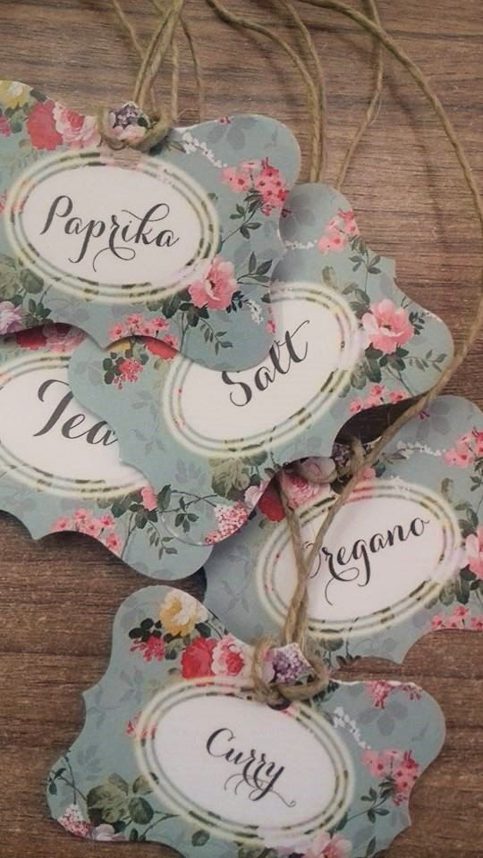 Custom Spice tags tea tags romantic era tags labels by Armenos