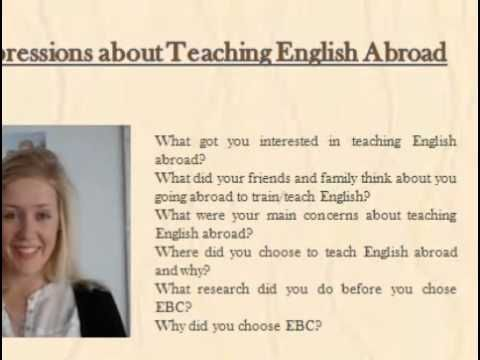 #Teaching #English #Abroad @ https://youtu.be/Pu13B5_DFAE