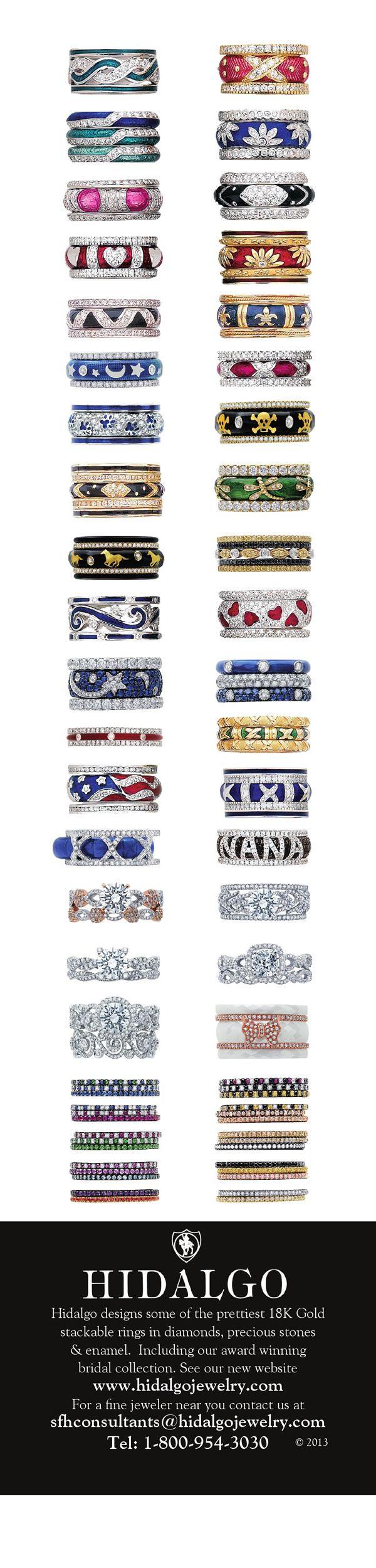 Beautiful stackable guard rings