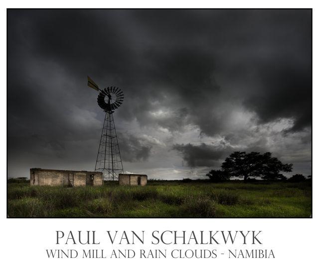 Windmill, eastern Namibia by Paul van Schalkwyk.  www.tala.com.na