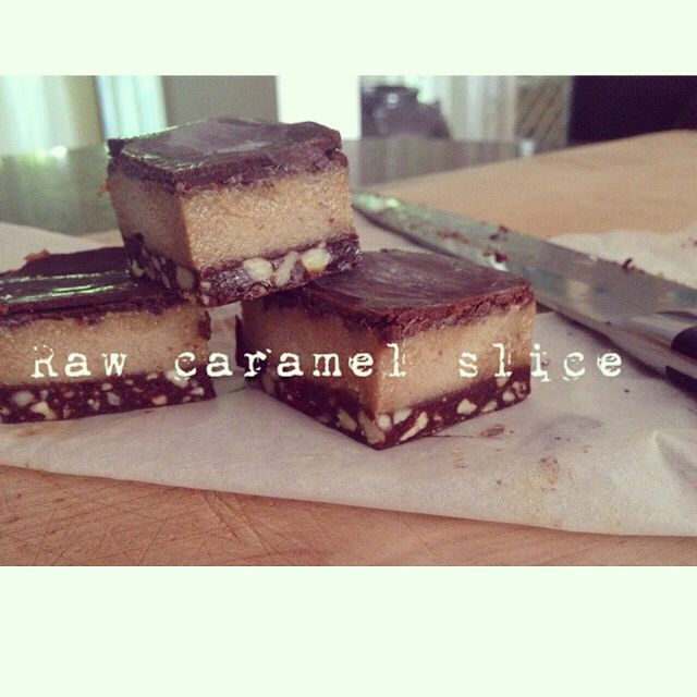 ️Raw caramel slice! Base nourishing by Sally energy mix, caramel  cashews, dates, tahini, maple, coconut oil. Cocolate  cacao butter, cacao and natvia natural sweetner. Check out my video on Instagram or face book @nourishingbysallyrobbie face book nourishing by Sally robbie