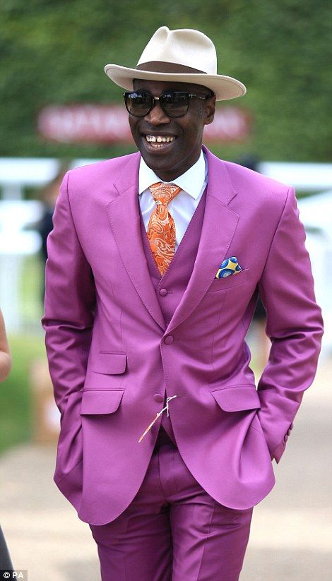 All things bright and beautiful: One stylish man went bold in a purple suit at the Goodwood Race Course, July 2015