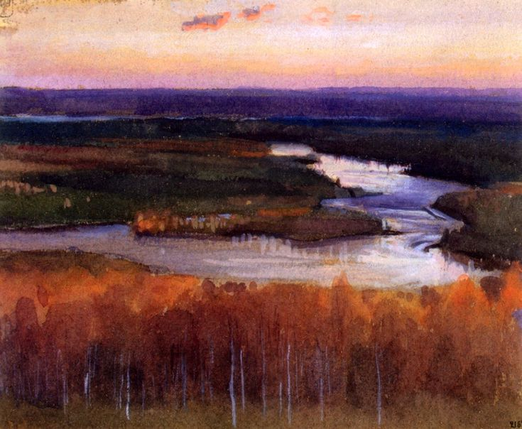 Järnefelt, Eero - Autumn Landscape with a River 1895