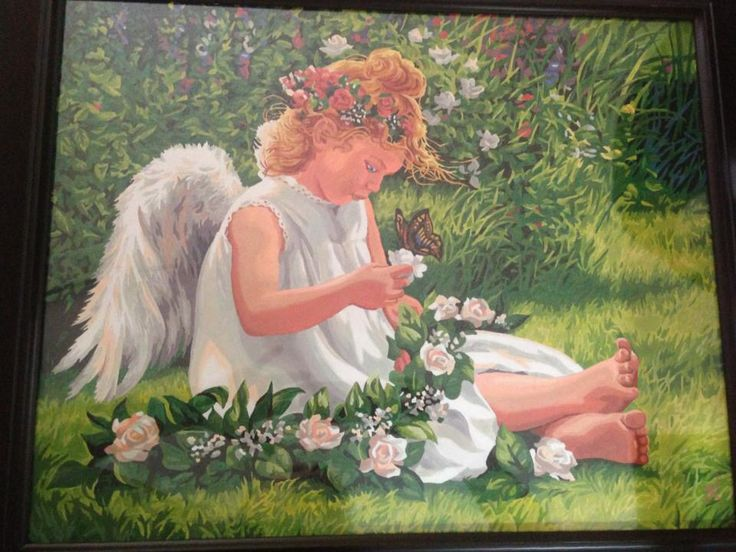 The angel I painted for my mom :)