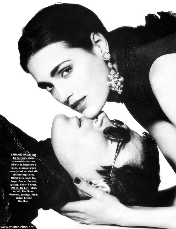 Yasmin & Simon  Le Bon for   Vogue Pelle, 1992