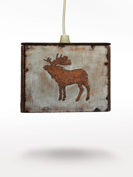 Ceiling Lights – Wooden lamp with animal motifs – a unique product by LumiLamp on DaWanda