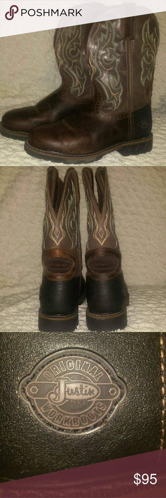Justin Work Boots Never worn Justin Boots Shoes Combat & Moto Boots