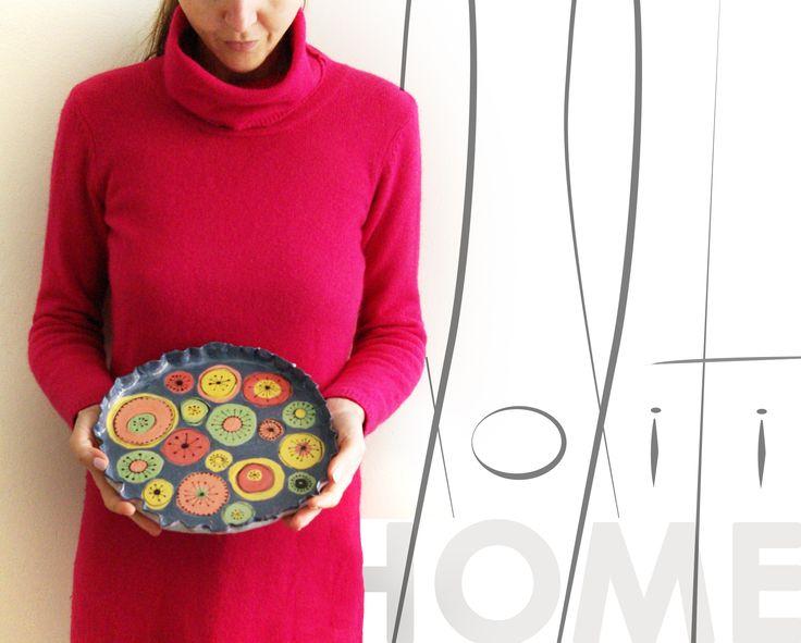 loliti HOME | HAND PAINTED CERAMIC PLATE | www.facebook.com/loliti.studio/
