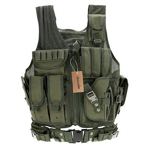 Docooler Gilet Tattico Militare Esercito Airsoft Poliestere Gilet