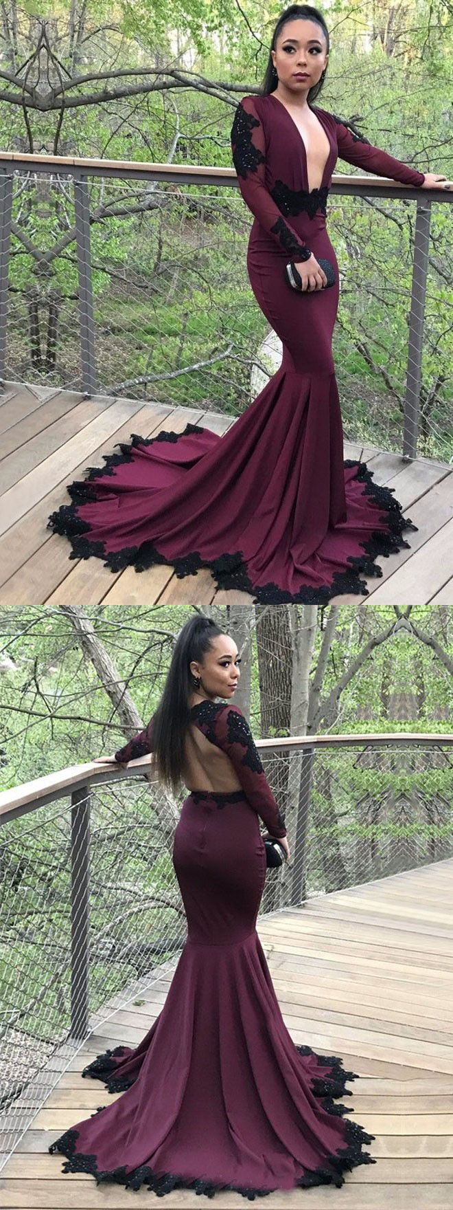 41+ Burgundy fitted prom dress info