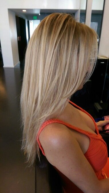 Baby blonde balayage highlights