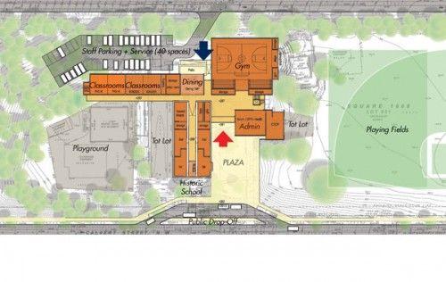 elementary school building design plans | ... layout for Stoddert ...