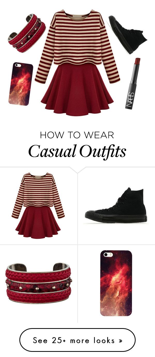 """""""Casual"""" by missolivetree on Polyvore featuring NARS Cosmetics, Converse and Tod's"""