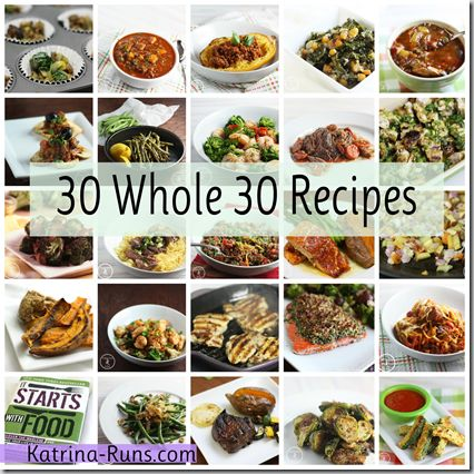 30 Whole 30 Recipes - not all are low carb but definitely could be adapted