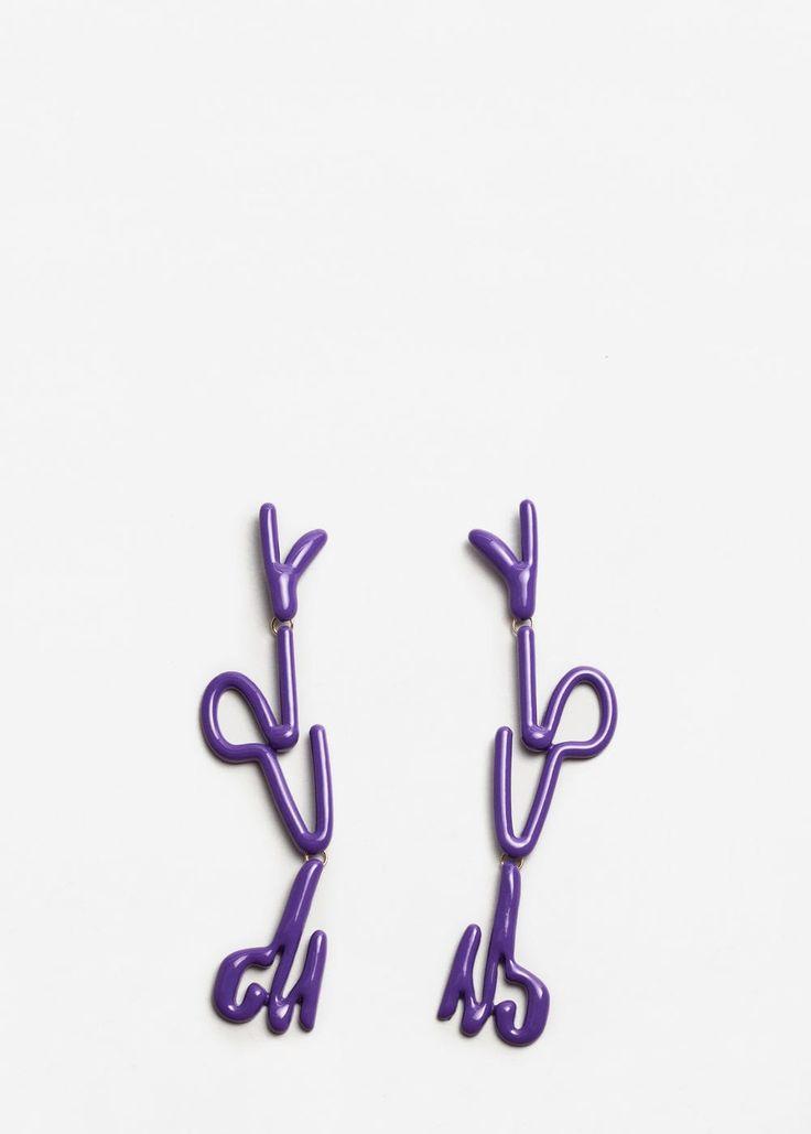 Ohrringe mit metallanhängern | MANGO
