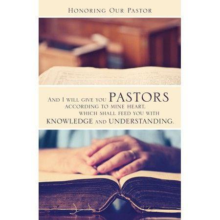 Honoring Our Pastor (Jeremiah 3:15, KJV) Bulletins, 100 ...