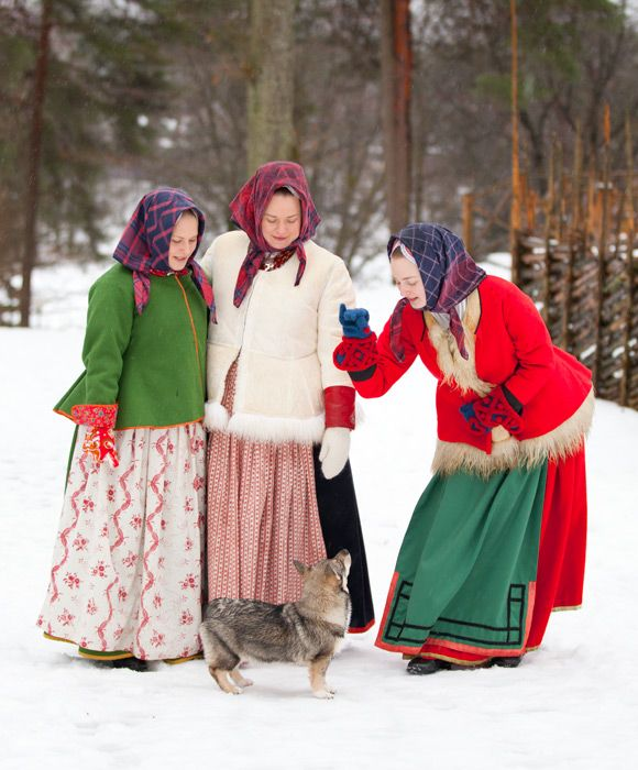 Swedish Folk Dresses And Accessories Like The Typical