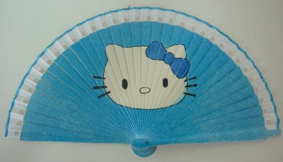 Hello Kitty Fan : Best images about hand fans on pinterest silk fan