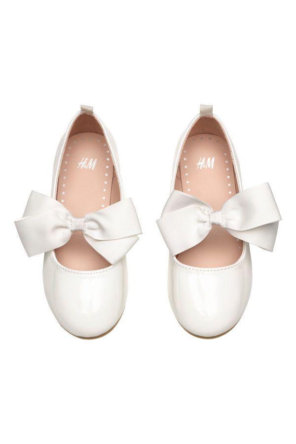 Ballet Flats | White/patent | KIDS | H