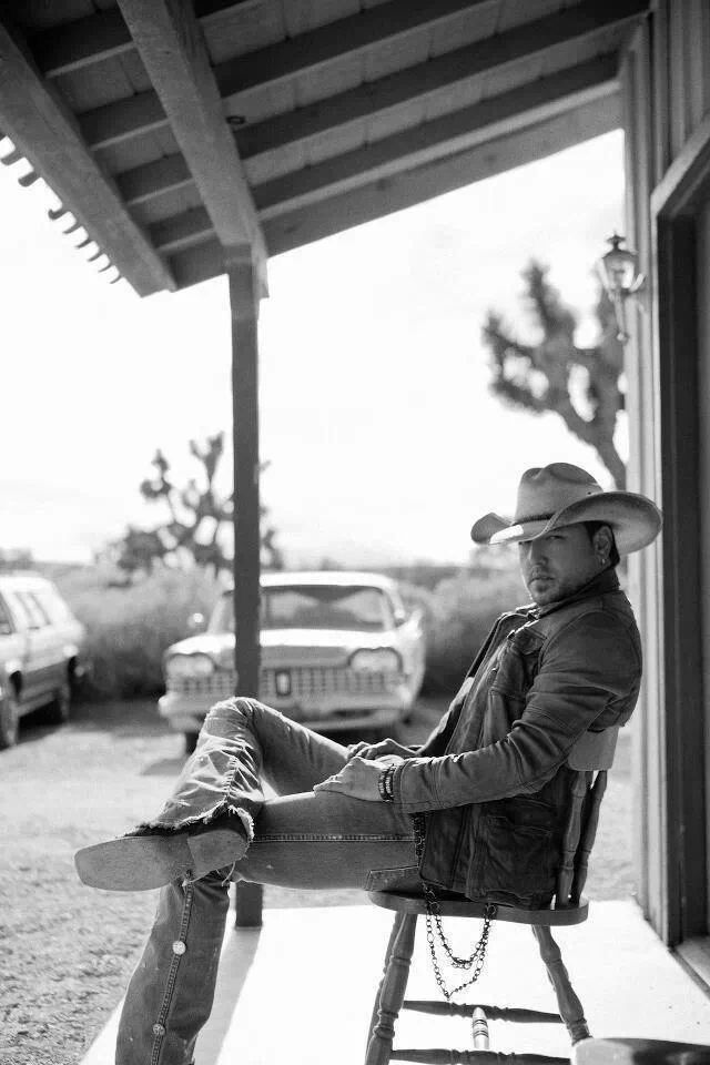 "Jason aldean. Oh.my.goodness...I would have a heart attack if I walked out of a store and him sitting there like this... ""hey baby, want to take a ride on my big green tractor?"""