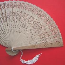 Sandalwood Wedding Hand Fans (maybe with beads instead of the tassel)