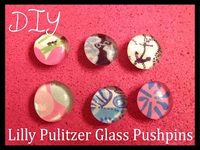 diy @lilly pulitzer pushpins