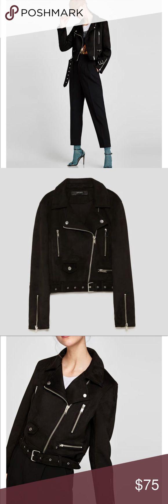 💥Zara_ Faux Suede Biker Jacket 💥 Zara_ Faux Suede Biker Jacket. Brand new! Size SMALL & MEDIUM available. Must have! Zara Jackets & Coats