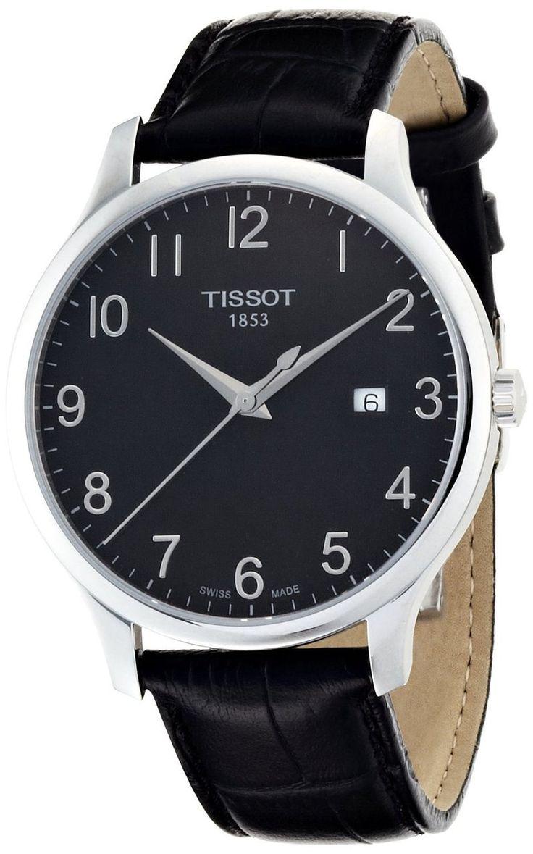 TISSOT T CLASSIC ANALOG DISPLAY SWISS QUARTZ BLACK T0636101605200 T063.610.16.052.00 MEN'S WATCH - Watch Direct