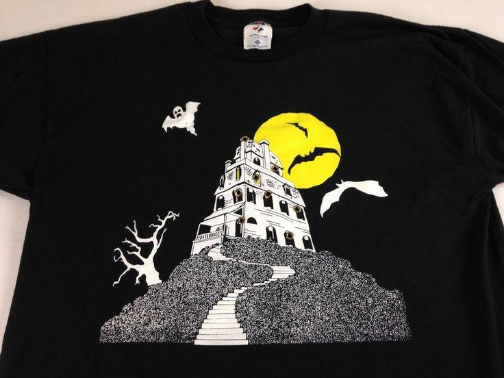 Jerzees Halloween T-Shirt VTG Bats Ghost 90s Mens XL Creepy Tower USA Made Spook http://www.ebay.com/itm/-/252759921683?roken=cUgayN&soutkn=hzdjpn #bogo #vintage #clothes #costume