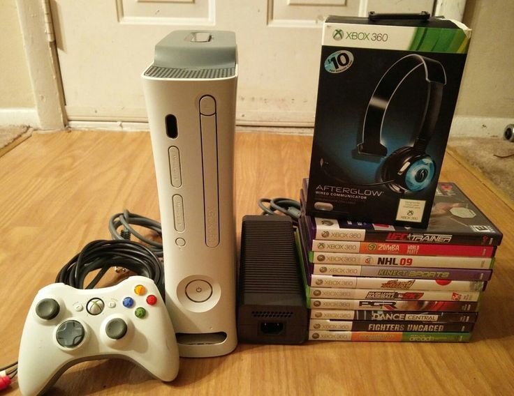XBOX 360 Console With 11 Games, Controller and AfterGlow Headset #Microsoft