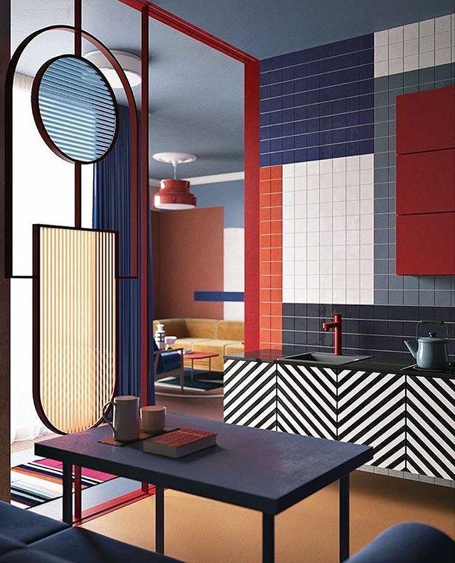 Bold colors and lines. Design: @zinovatnaya