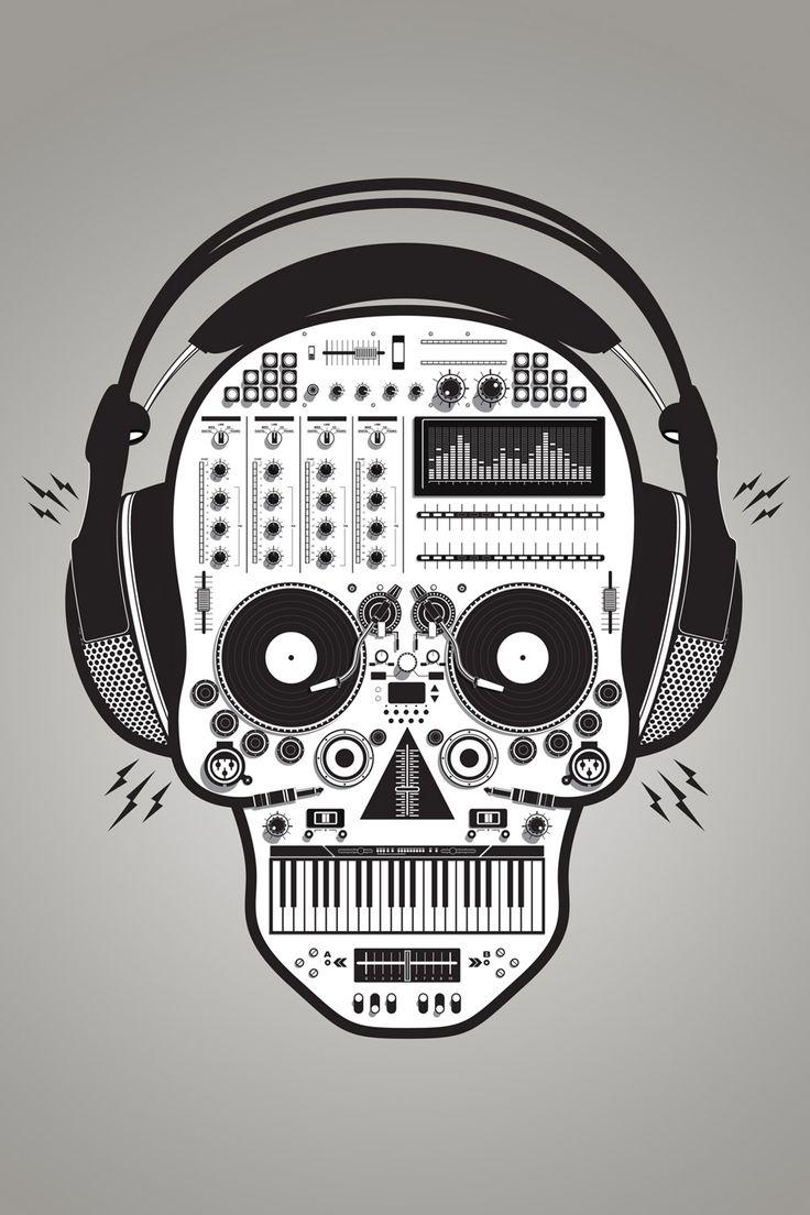 T-shirt design zeixs - Cool Dj Themed Illustrations By Tony Bamber What An Art Music Tattoostee