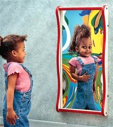 Funhouse Faces Kids Play Wall Mirror-Medium -Waiting Rooms Toys-Doctor's office toys