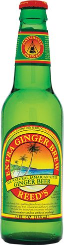 Reed's Extra Ginger Brew.  Favorite drink!  It has a real kick of ginger, unlike such ginger ales as Canada Dry or Seagram's.  Comes in original (17g fresh ginger), premium (17g fresh ginger), or extra (26g fresh ginger).  Ginger has many health benefits like relief of headaches and nausea.