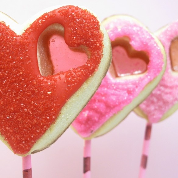 Stained glass heart cookies tutorial