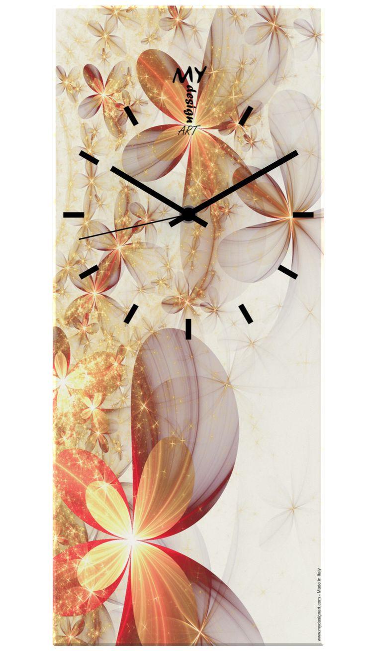 "Orologio da Parete ""Time"" Flowers Explosion. by MyDesignArt. www.mydesignart.com"