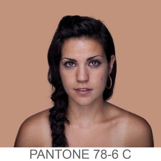 Angelica Dass - Humanæ - i colori PANTONE della pelle umana