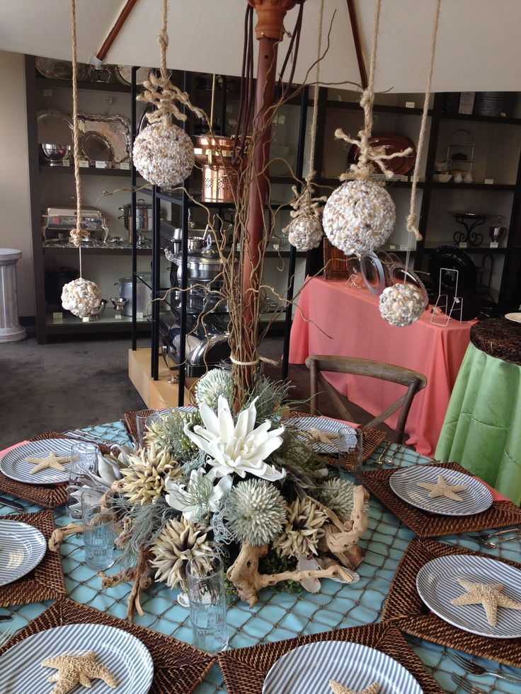 19 best silk flowers paul fenner floral design images on pinterest tablescape beachocean theme made with silkpermanent botanicals baker party rentals showroom mightylinksfo