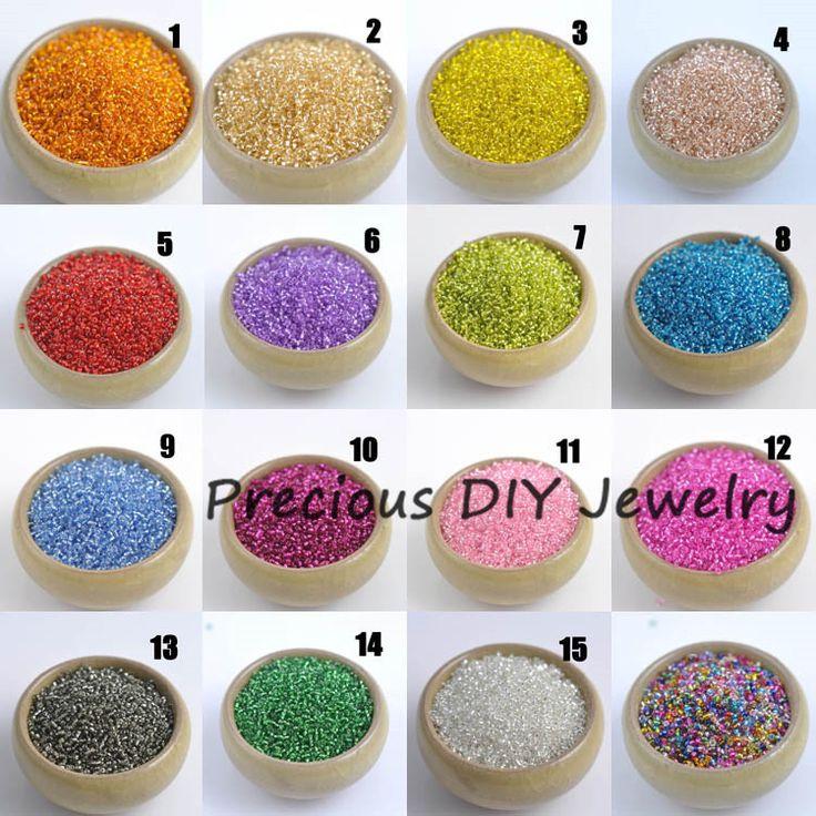 Купить товар19 цвета 3 мм 1000 шт серебро с подкладкой кристалл чешский семян стекло спейсерной бусины для ювелирные изделия ручной работы своими руками BLGY03X в категории Бусинына AliExpress.  15 AB Colors 2x3mm 1000pcs Crystal Glass Spacer beads, Czech Seed Tube Beads For Jewelry Handmade DIY BLGZ02XUSD 1.19/l