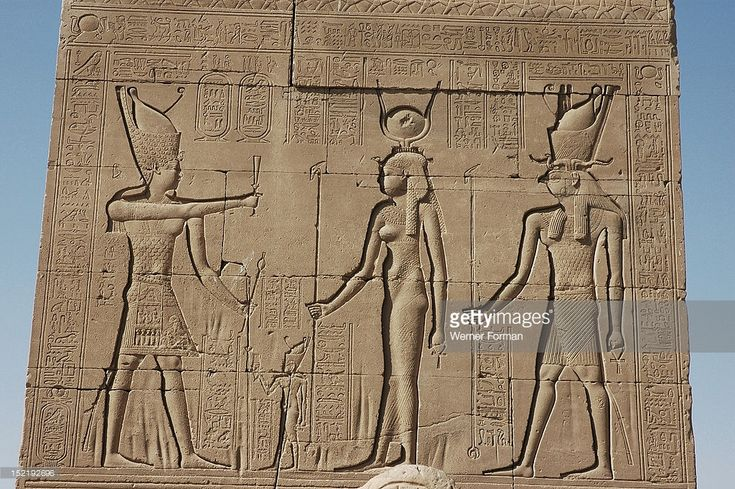 relief at the Temple of Hathor, It depicts the Roman Emperor Tiberius in Egyptian